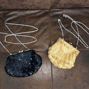2 Clutch/Shoulder evening Bags